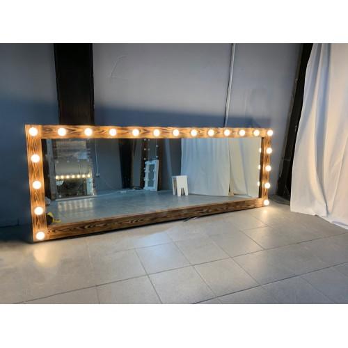 Гримерное зеркало настенное 220х80 с подсветкой