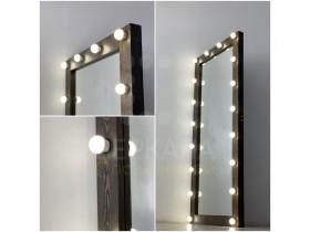 Выполненная работа: гримерное зеркало 180х80 с подсветкой цвет черное дерево (г. Екатеринбург)